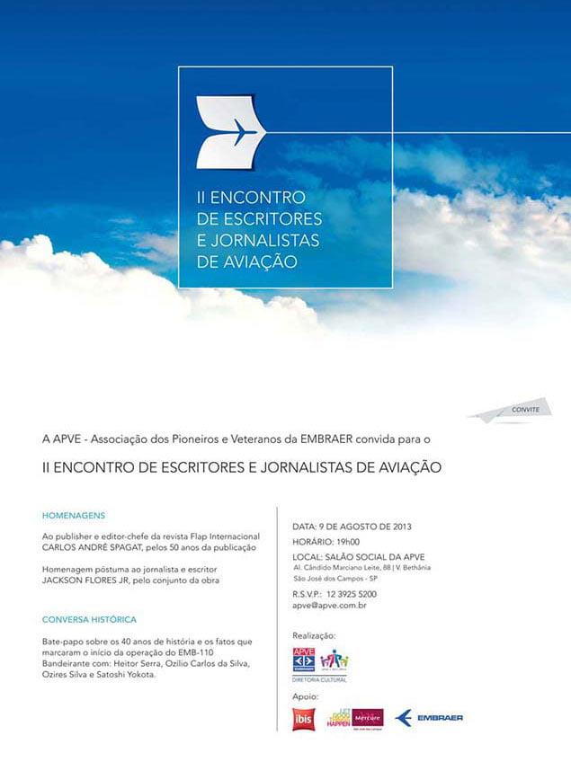 II ENCONTRO DE ESCRITORES E JORNALISTAS DE AVIAÇÃO